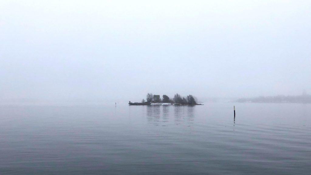 Merisumua ja saari.